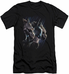 Batman slim-fit t-shirt Gargoyles mens black