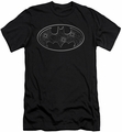 Batman slim-fit t-shirt Glass Hole Logo mens black