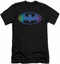 Batman slim-fit t-shirt Gradient Bat Logo mens black