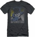 Batman slim-fit t-shirt Interesting mens charcoal