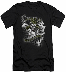 Joker slim-fit t-shirt Its All A Joke mens black