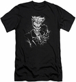 Joker slim-fit t-shirt Splatter Smile mens black