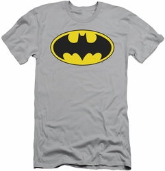 Batman slim-fit t-shirt Logo mens silver