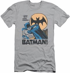Batman slim-fit t-shirt Look Out mens silver