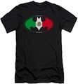 Batman slim-fit t-shirt Mexican Flag Shield mens black