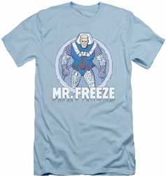 Batman slim-fit t-shirt Mr Freeze mens light blue