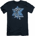 Mr Freeze slim-fit t-shirt Mr Freeze mens navy