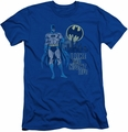Batman slim-fit t-shirt Night Life mens royal