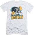 Batman slim-fit t-shirt Night Off mens white