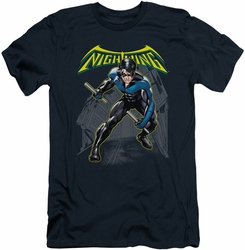 Batman slim-fit t-shirt Nightwing mens navy