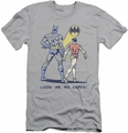 Batman slim-fit t-shirt No Capes mens silver