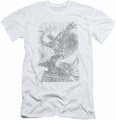 Batman slim-fit t-shirt Pencil Batarang Throw mens white