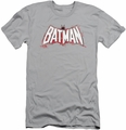 Batman slim-fit t-shirt Plaid Splat Logo mens silver