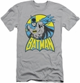 Batman slim-fit t-shirt Retro Portrait mens silver