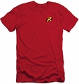 Batman slim-fit t-shirt Robin Logo mens red