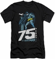 Batman slim-fit t-shirt Rooftop mens black