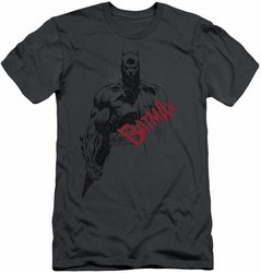 Batman slim-fit t-shirt Sketch Bat Red Logo mens charcoal