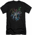 Batman slim-fit t-shirt Surrounded mens black