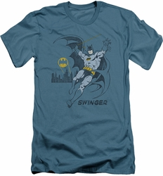 Batman slim-fit t-shirt Swinging mens slate