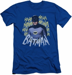 Batman slim-fit t-shirt Theme Song mens royal blue