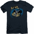 Batman slim-fit t-shirt Through The Night mens navy