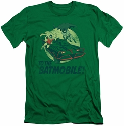 Batman slim-fit t-shirt To The Batmobile mens kelly green