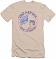 Batman slim-fit t-shirt Two Heroes mens cream