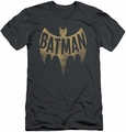 Batman slim-fit t-shirt Vintage Logo mens charcoal