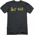 Batman slim-fit t-shirt Vintage Logo Splatter mens charcoal