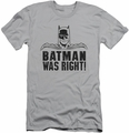 Batman slim-fit t-shirt Was Right mens silver