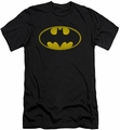 Batman slim-fit t-shirt Washed Bat Logo mens black