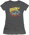 Batman Superman juniors t-shirt BAM! charcoal