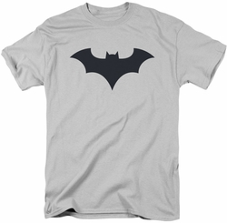 Batman t-shirt 52 Title Logo mens silver