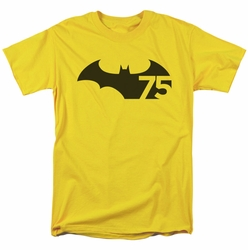 Batman t-shirt 75th Logo mens yellow