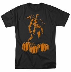 Batman t-shirt A Bat Among Pumpkins mens black
