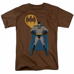 Batman t-shirt Arms Akimbo Bats mens coffee