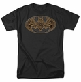Batman t-shirt Aztec Bat Logo mens black