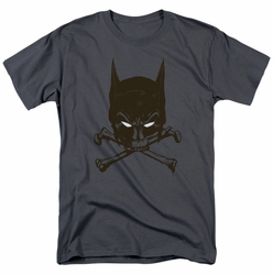 Batman t-shirt Bat And Bones mens charcoal