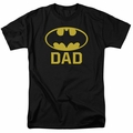 Batman t-shirt Bat Dad mens black