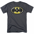 Batman t-shirt Bat Mech Logo mens charcoal