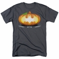 Batman t-shirt Bat Pumpkin Logo mens charcoal