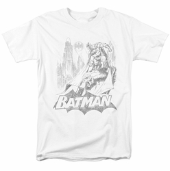 Batman t-shirt Bat Sketch mens white
