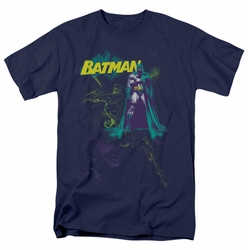 Batman t-shirt Bat Spray mens navy