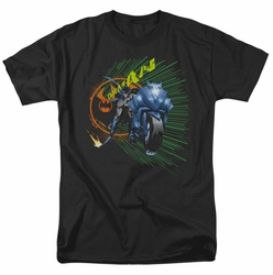 Batman t-shirt Batcycle mens black