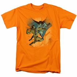Batman t-shirt Batman Vs Catman mens orange