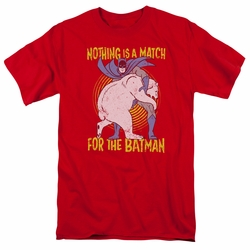Batman t-shirt Bear Wrastling mens red