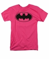 Batman t-shirt Black Bat mens fuchsia/ hotpink