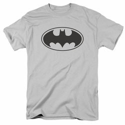 Batman t-shirt Black Bat mens silver