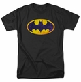 Batman t-shirt Bm Neon Distress Logo mens black