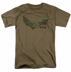 Batman t-shirt Camo Knight mens safari green